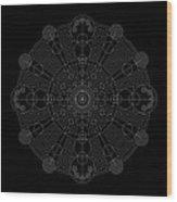 Vortex Inverse Wood Print by DB Artist