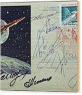 Vostok 1 Commemorative Post Wood Print