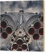 Vostok Rocket Engine Wood Print