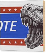 Vote - Presidential Election Poster Wood Print