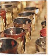 Votive Candles Wood Print