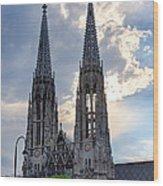 Votive Church Towers Wood Print by Viacheslav Savitskiy