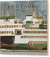 Voyage To Puget Sound Wood Print