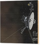 Voyager 1 Spacecraft Entering Wood Print