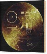 Voyager Spacecraft Plaque Wood Print