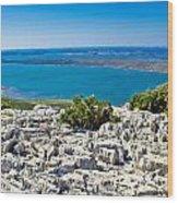 Vransko Lake And Kornati Islands Wood Print