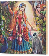 Vrinda Devi Wood Print