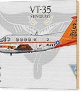 Vt-35 Stingrays Wood Print