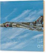 Vulcan Bomber Wood Print by Adrian Evans