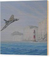 Vulcan Xh558 Passing Beachy Head Wood Print by Elaine Jones