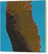 Vulture In Flight Wood Print