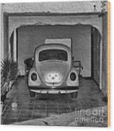 Vw Beetle Digital Painting Wood Print