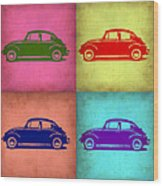 Vw Beetle Pop Art 1 Wood Print by Naxart Studio