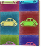 Vw Beetle Pop Art 2 Wood Print by Naxart Studio
