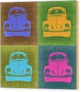 Vw Beetle Pop Art 6 Wood Print by Naxart Studio