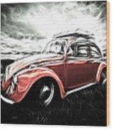 Vw Bug Art Wood Print