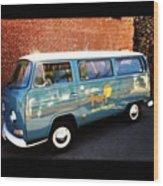 #vw #bus #marinelayershirts #venice Wood Print