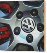 Vw Gti Wheel Wood Print