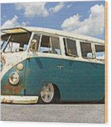 Vw Lowrider Bus Wood Print