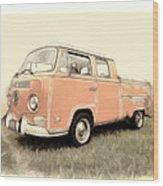 Vw Pickup Wood Print