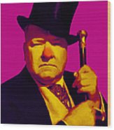 W C Fields 20130217 Wood Print by Wingsdomain Art and Photography