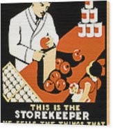 W P A  Food Hygiene Poster C. 1937 Wood Print by Daniel Hagerman