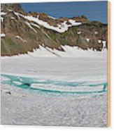 Wa, Goat Rocks Wilderness, Snow And Ice Wood Print