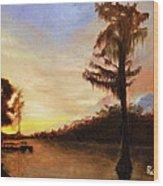 Waccamaw Evening Wood Print