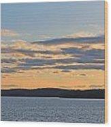 Wachusett Reservoir Sunset Wood Print