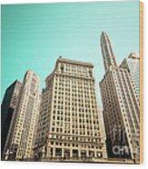 Wacker And Michigan Avenue Chicago Wood Print