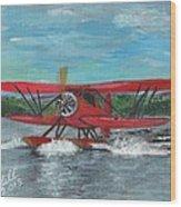 Waco Cabin Biplane Circa 1930 Wood Print