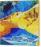 Wadi Rum Natural Arch Wood Print
