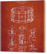 Waechtler Snare Drum Patent Drawing From 1910 - Red Wood Print