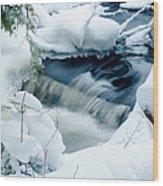 Wagner Creek In Winter Wood Print