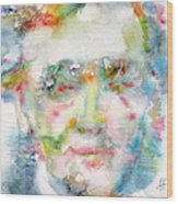 Wagner - Watercolor Portrait Wood Print