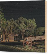 Wagon And Stars 2am 115859and115863_stacked Wood Print