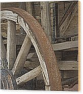 Wagon At The Hacienda II Wood Print