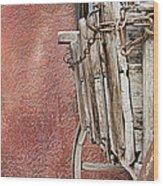 Wagon At The Hacienda Wood Print by Robert Bascelli