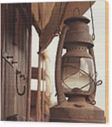 Wagon Lantern Wood Print