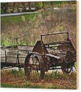 Wagon Wood Print by Marty Koch