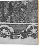Wagon Wheels June Lake Wood Print