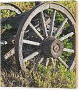 Wagon Wheels Wood Print by Steven Parker