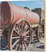 Wagons In The Sun Wood Print