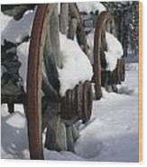 Wagons West Wood Print