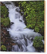 Wahkeena Falls In Oregon Wood Print