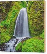 Wahkeena Falls Oregon Wood Print
