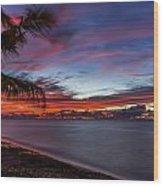 Waialua Sunset Wood Print