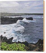 Waianapanapa Pailoa Bay Hana Maui Hawaii Wood Print