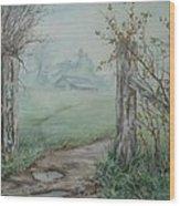 Waikato Fog. Wood Print