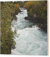Waikato River Huka Falls Wood Print